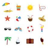 De kleuren vectorillustratie van het strandpictogram Royalty-vrije Stock Foto