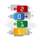 de kleurenachtergrond van 2015 Royalty-vrije Stock Fotografie