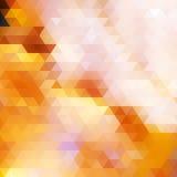 De kleurenachtergrond van de driehoeksherfst. Stock Foto