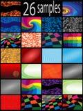 De kleurenachtergrond van de inzameling vector illustratie