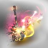 De kleurenachtergrond van de muziek Stock Afbeelding
