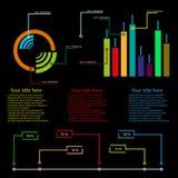 De kleurenachtergrond van het informatie grafische malplaatje fesh Stock Afbeeldingen