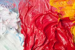 De kleurenachtergrond van kunstenaarsolieverven stock fotografie