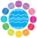 De kleurenballen van Kerstmis Royalty-vrije Stock Afbeelding