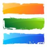 De kleurenbanners van Grunge. De abstracte achtergrond van de borstel Royalty-vrije Stock Afbeeldingen