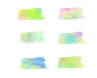 De kleurenborstel van het schoonheidswater Stock Foto