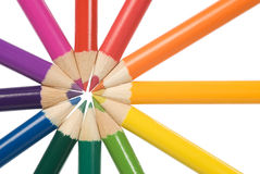 De kleurencirkel van potloden royalty-vrije stock foto's
