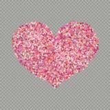 De kleurenconfettien van de hartvorm De hoogste mening van valentijnskaartenbloemblaadjes Geïsoleerd op transparante achtergrond  vector illustratie