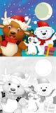 De kleurende Kerstmispagina met kleurrijke voorproef Royalty-vrije Stock Foto