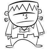 De Kleurende Pagina B van Halloween & w-jong geitje Frankenstein royalty-vrije illustratie