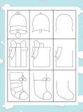 De kleurende pagina met patroon - illustratie voor de jonge geitjes Royalty-vrije Stock Fotografie