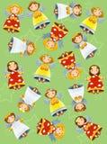 De kleurende pagina met patroon - illustratie voor de jonge geitjes Stock Afbeelding