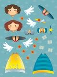 De kleurende pagina met patroon - illustratie voor de jonge geitjes Royalty-vrije Stock Foto
