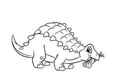 De kleurende pagina's van dinosaurusankylosaurus Stock Afbeeldingen