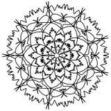 De kleurende rooster van de Mandalabloem voor volwassenen Royalty-vrije Stock Afbeelding