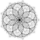 De kleurende rooster van de Mandalabloem voor volwassenen Stock Afbeelding