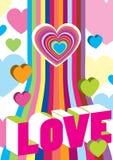De kleurendecoratie van de valentijnskaart Royalty-vrije Stock Afbeeldingen