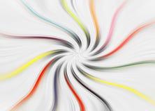 De kleurendraaikolk die van achtergrondwervelingendraaien golvende golven spinnen royalty-vrije stock afbeeldingen