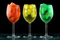 De kleurendranken van Nice met ijs Royalty-vrije Stock Fotografie