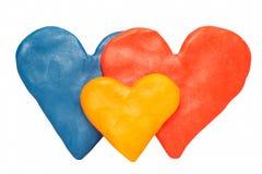 De kleurenfamilie van het hart Royalty-vrije Stock Foto's