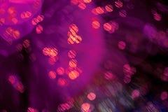De kleurenlichten met bokeh defocused achtergrond Royalty-vrije Stock Foto