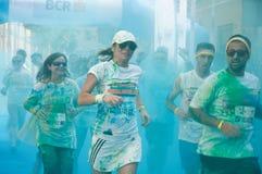 De Kleurenlooppas is een ontvangen pretrace wereldwijd Royalty-vrije Stock Afbeelding