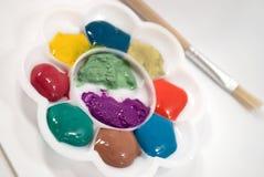 De kleurenpalet van de regenboog. Stock Afbeelding