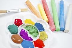 De kleurenpalet van de regenboog. Stock Foto's