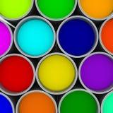 De kleurenpalet van verfblikken, Royalty-vrije Stock Fotografie