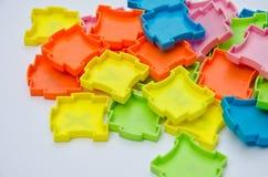 De kleurenplastiek van het raadsel Stock Afbeeldingen