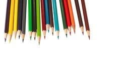 De kleurenpotloden van de groep Royalty-vrije Stock Afbeeldingen