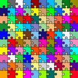 De kleurenraadsel van de figuurzaag Stock Afbeeldingen