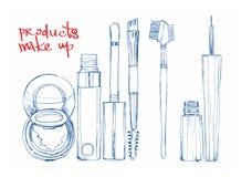 De kleurenschoonheidsmiddelen van de schetspen voor de ogen Royalty-vrije Stock Afbeelding