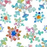 De kleurenstroom van de caleidoscoopsneeuwvlok stock illustratie