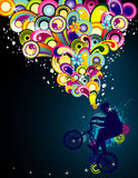 De kleurenvector van de fiets Stock Foto's