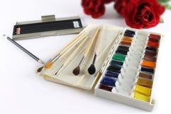 De kleurenverven van het kunstwater Royalty-vrije Stock Afbeeldingen