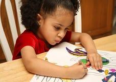De kleuring van het kind Stock Afbeeldingen