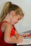 De kleuring van het kind - grappig gezicht Royalty-vrije Stock Foto