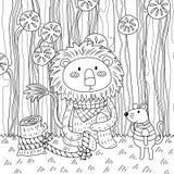 De Kleurloze Leeuw en de Muis royalty-vrije illustratie