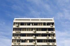 De kleurloze oude bouw Stock Foto's