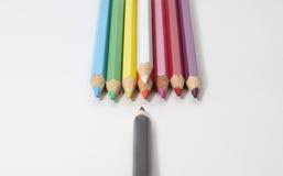 De kleurpotloden royalty-vrije stock afbeelding