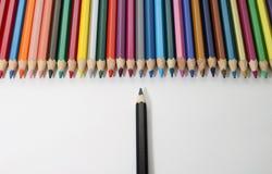 De kleurpotloden royalty-vrije stock afbeeldingen