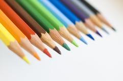 De kleurpotloden van Colourfull stock foto