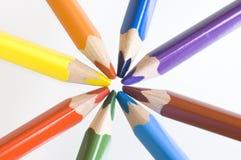De kleurpotloden van Colourfull royalty-vrije stock afbeeldingen