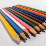 De kleurpotloden van de kleur Royalty-vrije Stock Afbeeldingen