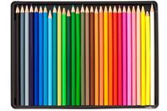 De Kleurpotloden van de kleur Royalty-vrije Stock Afbeelding