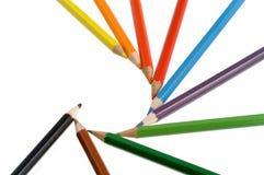 De kleurpotloden van de kleur Stock Foto's