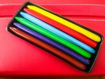 De kleurpotloden van de kleurenwas stock foto