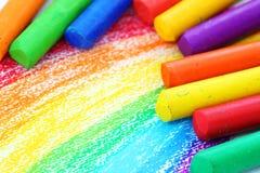De Kleurpotloden van de Pastelkleur van de olie Royalty-vrije Stock Afbeeldingen