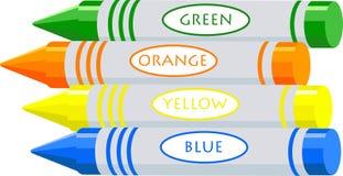 De kleurpotloden van de tekening stock illustratie